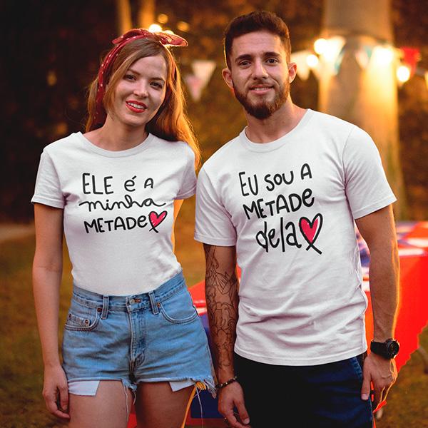 Camiseta Casal Minha Metade - CA1308