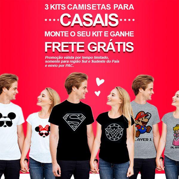 Camiseta Casal Personalizada Together Since CA0724