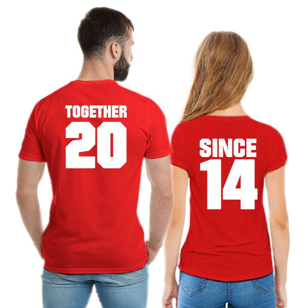 Camiseta Casal Personalizada Together Since CA0724