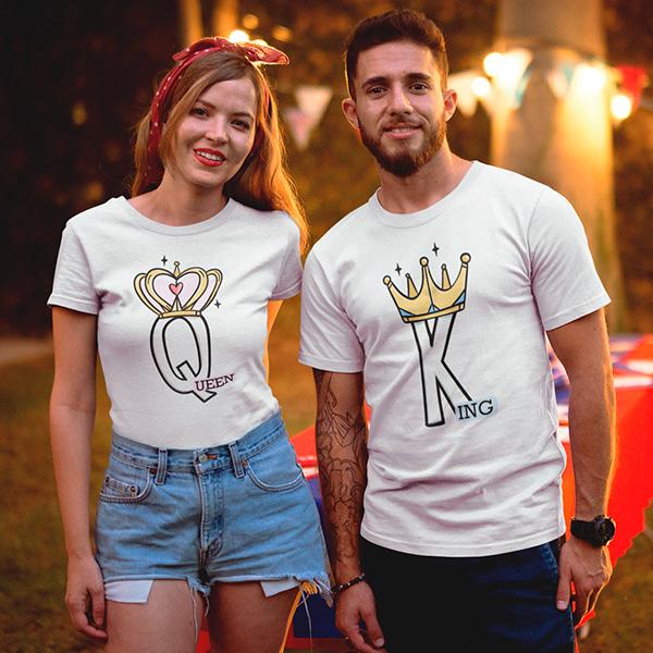 Camiseta Casal Queen e King - CA1299