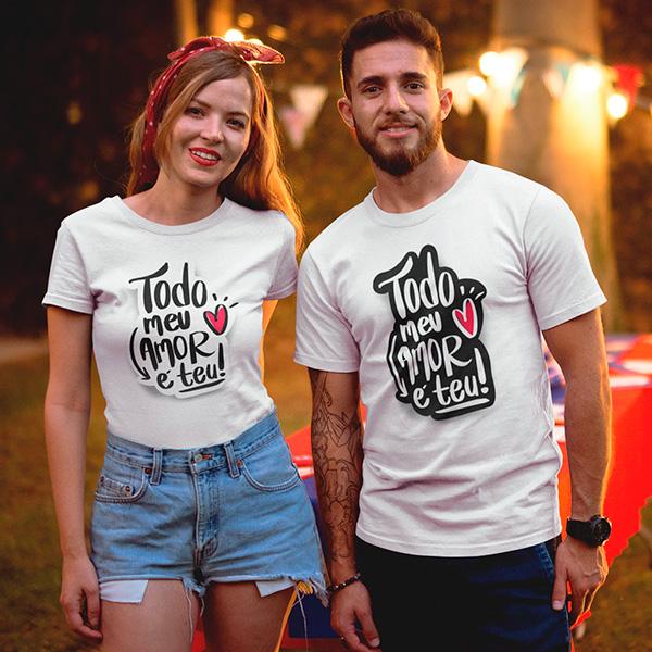 Camiseta Casal Todo Meu Amor é Teu - CA1293