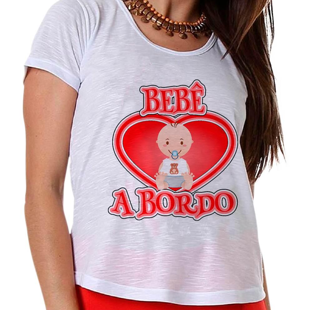 Camiseta Gestante Bebê a Bordo