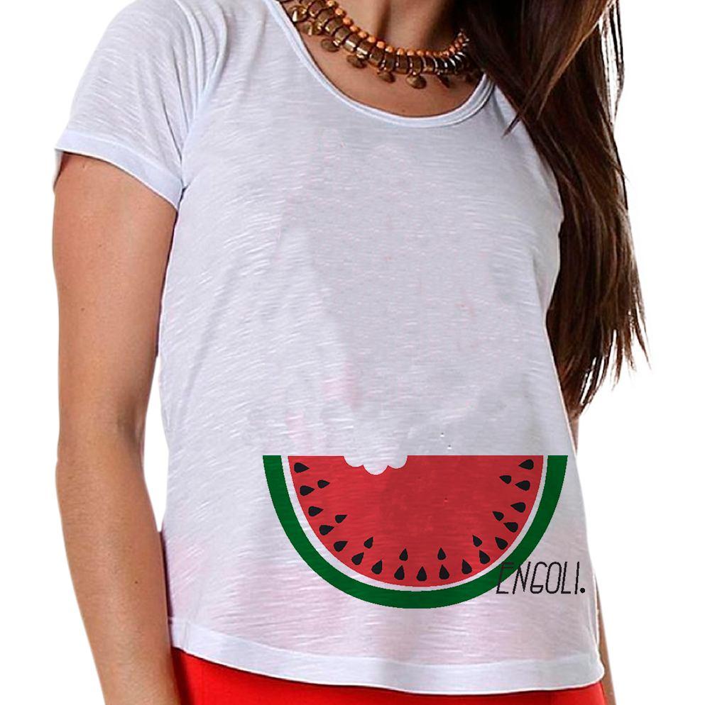 Camiseta Gestante Engoli Uma Melancia