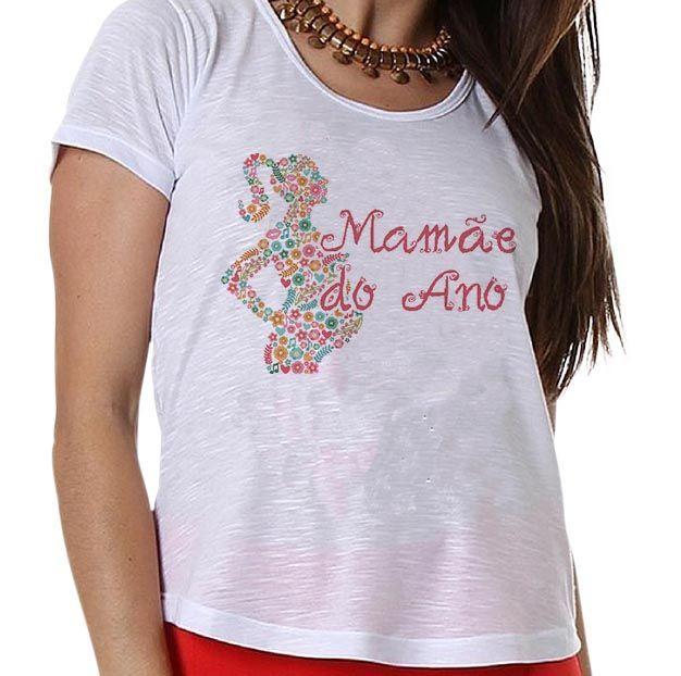 Camiseta Gestante Mamãe do Ano