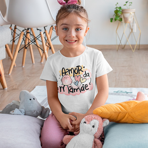 Camiseta Infantil Amor da Mamãe - CA1206