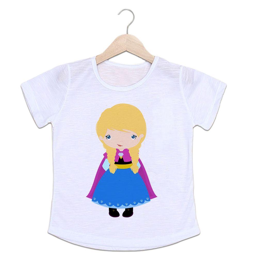 Camiseta Infantil Anna Frozen