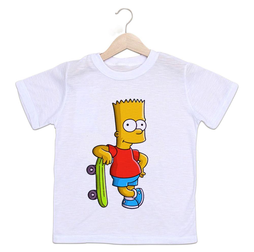 Camiseta Infantil Bart Simpsons Skate