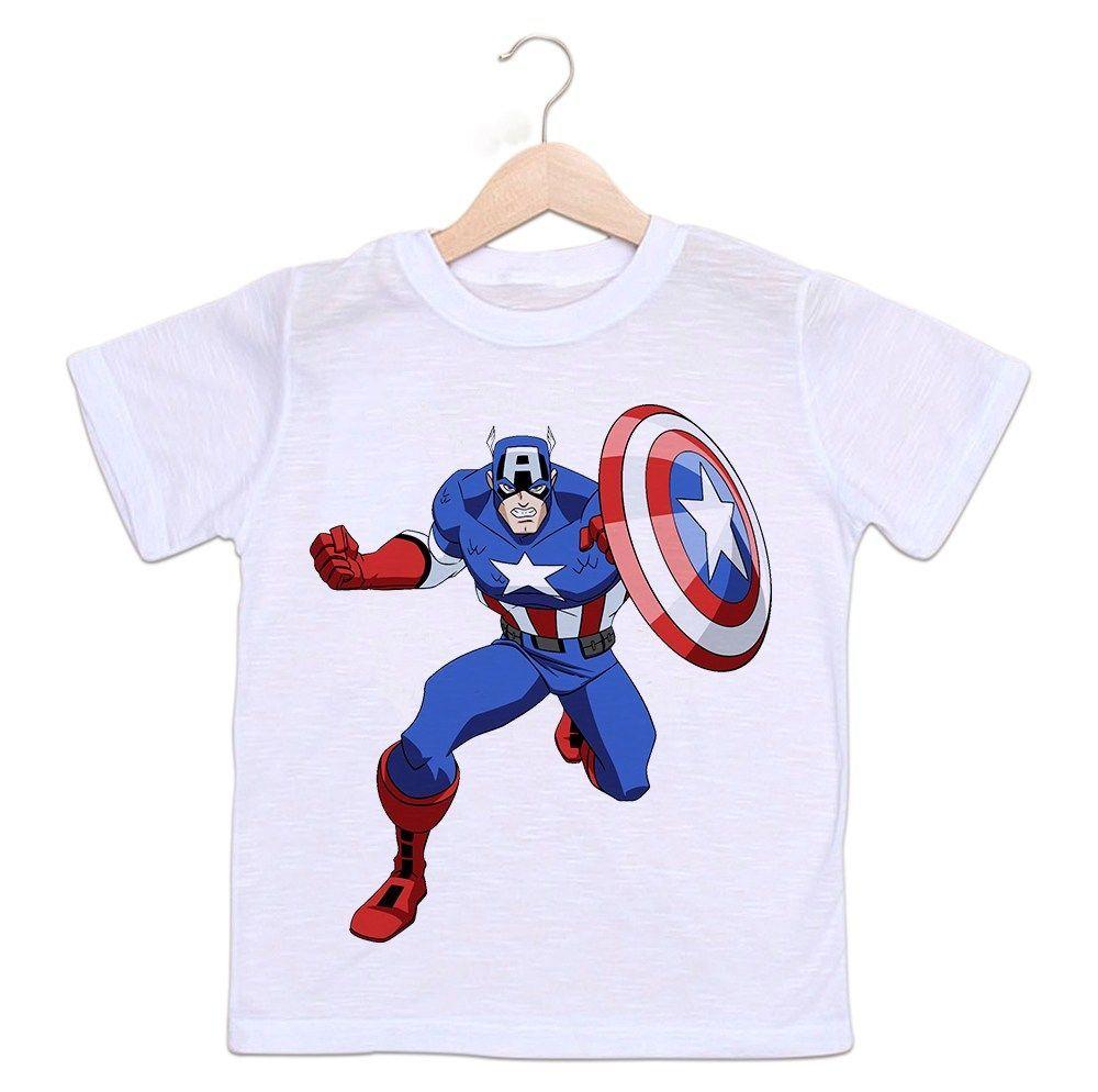 Camiseta Infantil Capitão América
