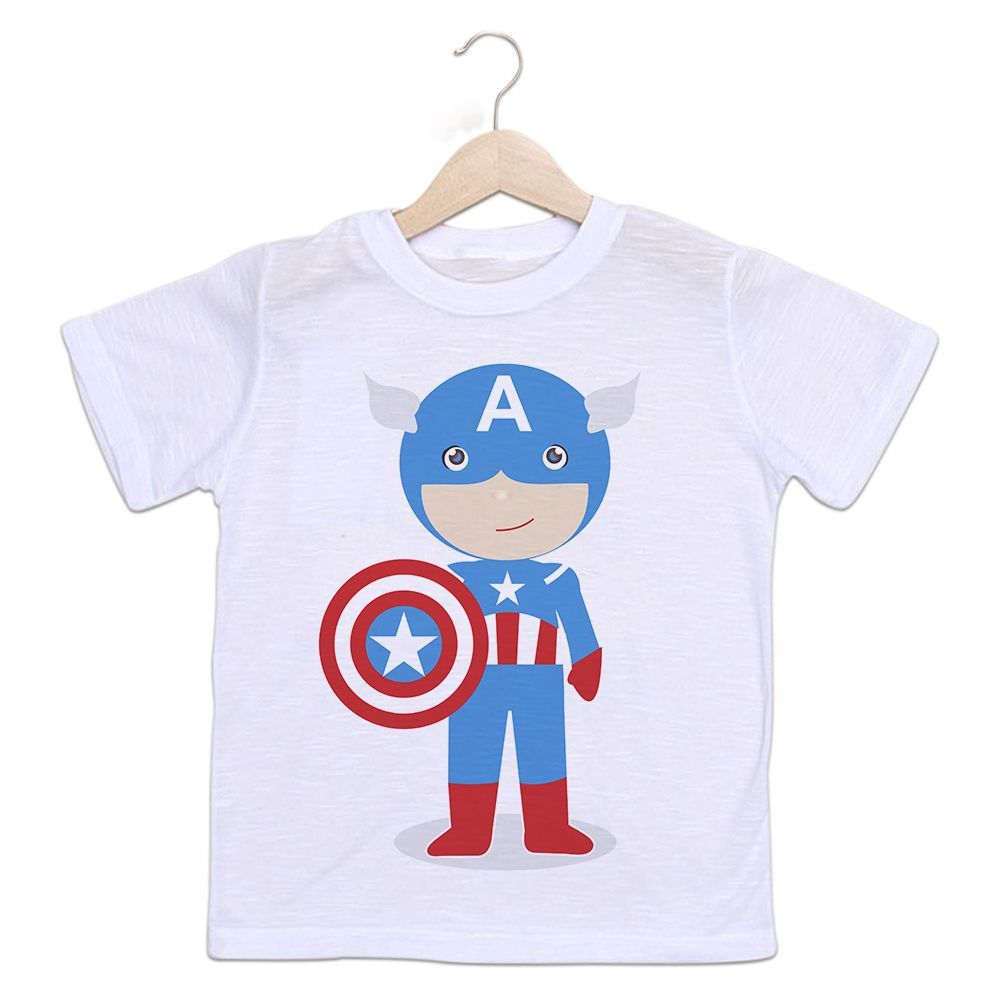 Camiseta Infantil Capitão América Baby Empório Camiseteria dbc90abdc9a