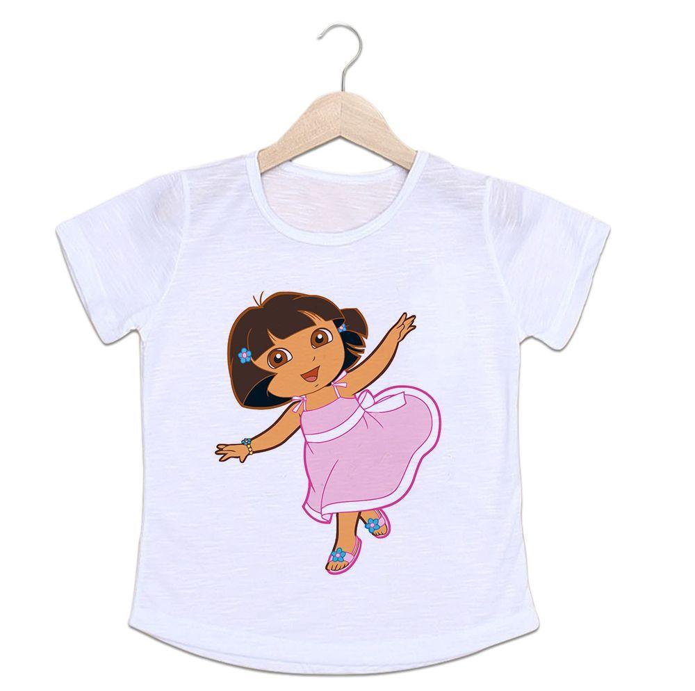 Camiseta Infantil Dora Aventureira