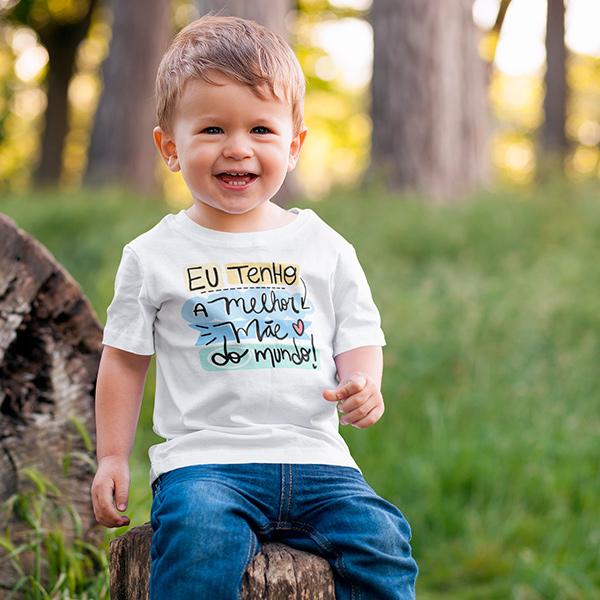 Camiseta Infantil Eu Tenho a Melhor Mãe do Mundo - CA1208