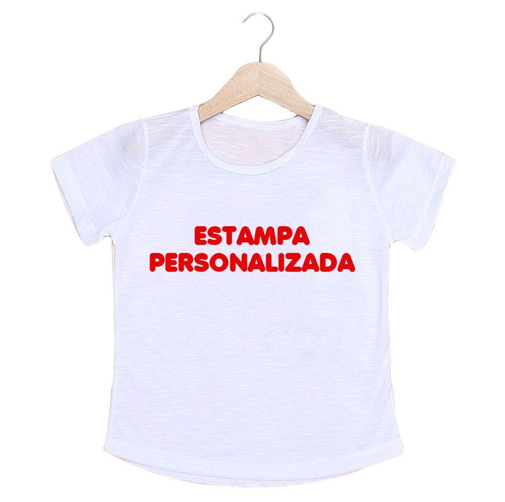 Camiseta Infantil Feminino Personalizada Com A Sua Estampa