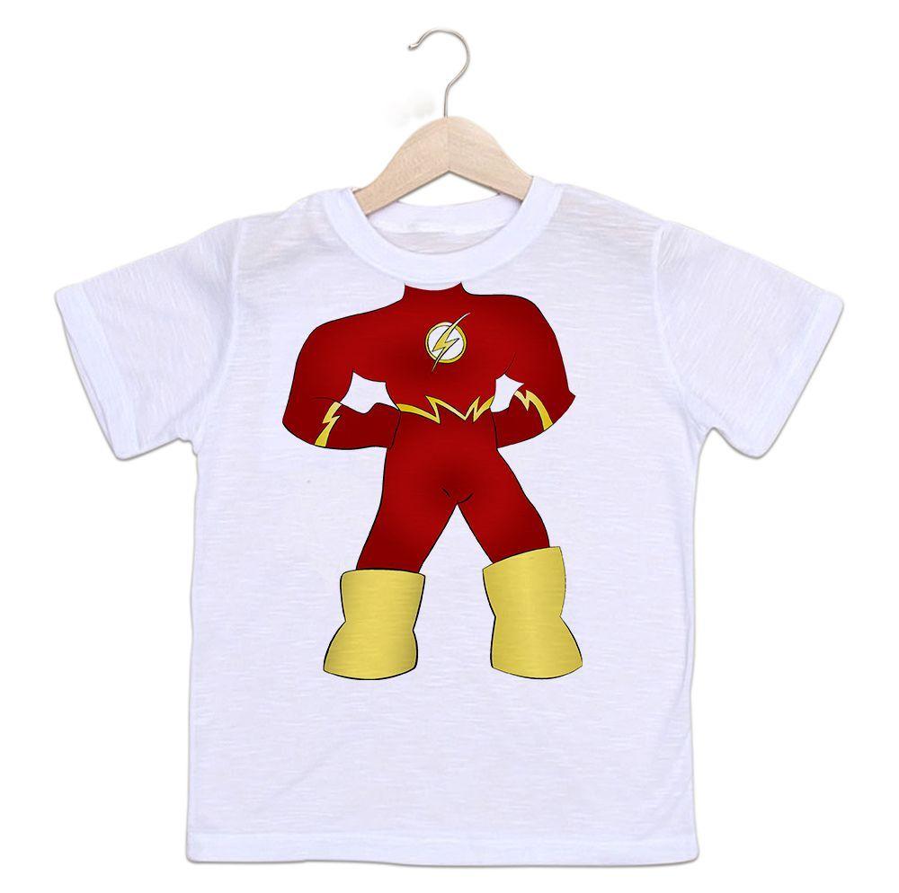 Camiseta Infantil Flash