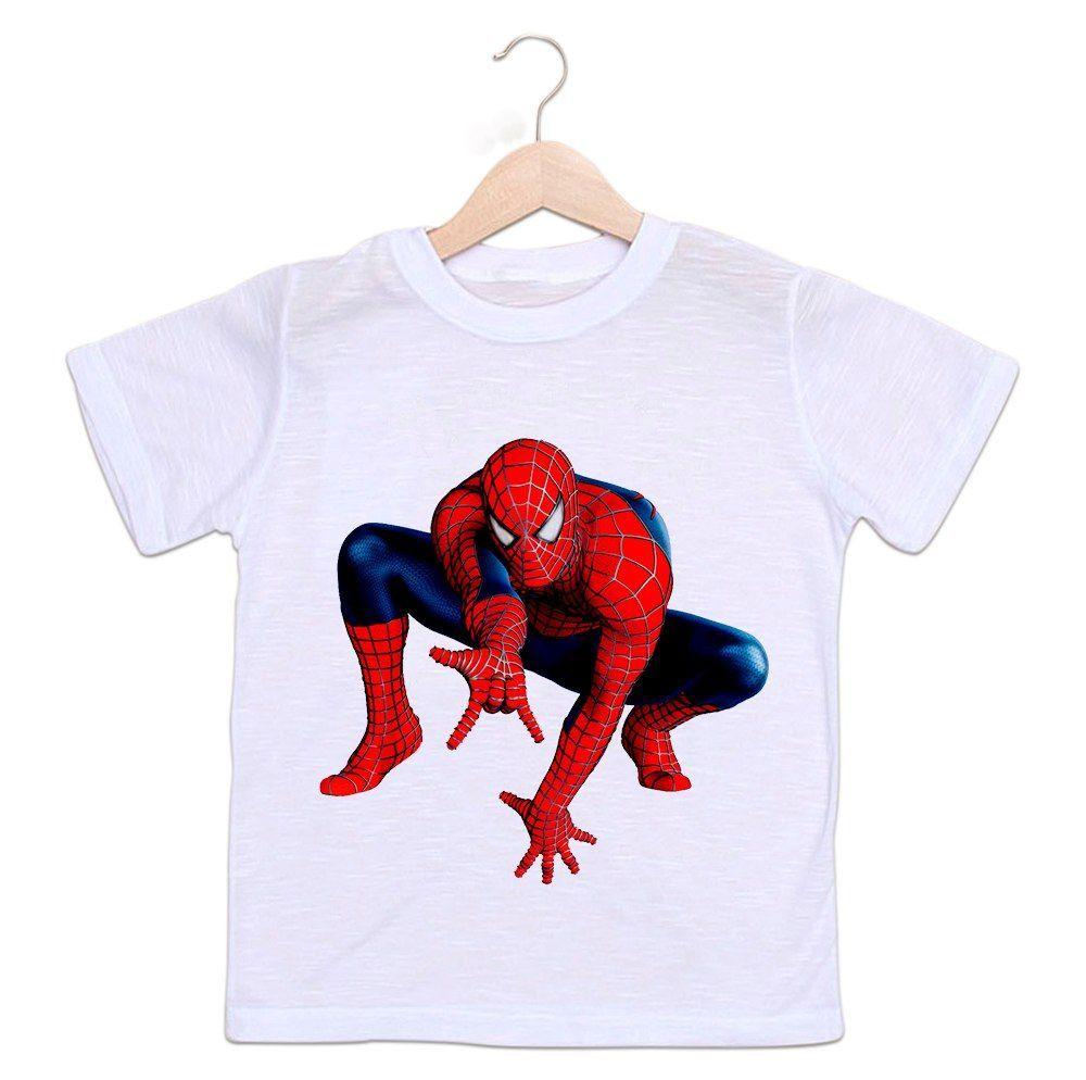Camiseta Infantil Homem Aranha Os Vingadores