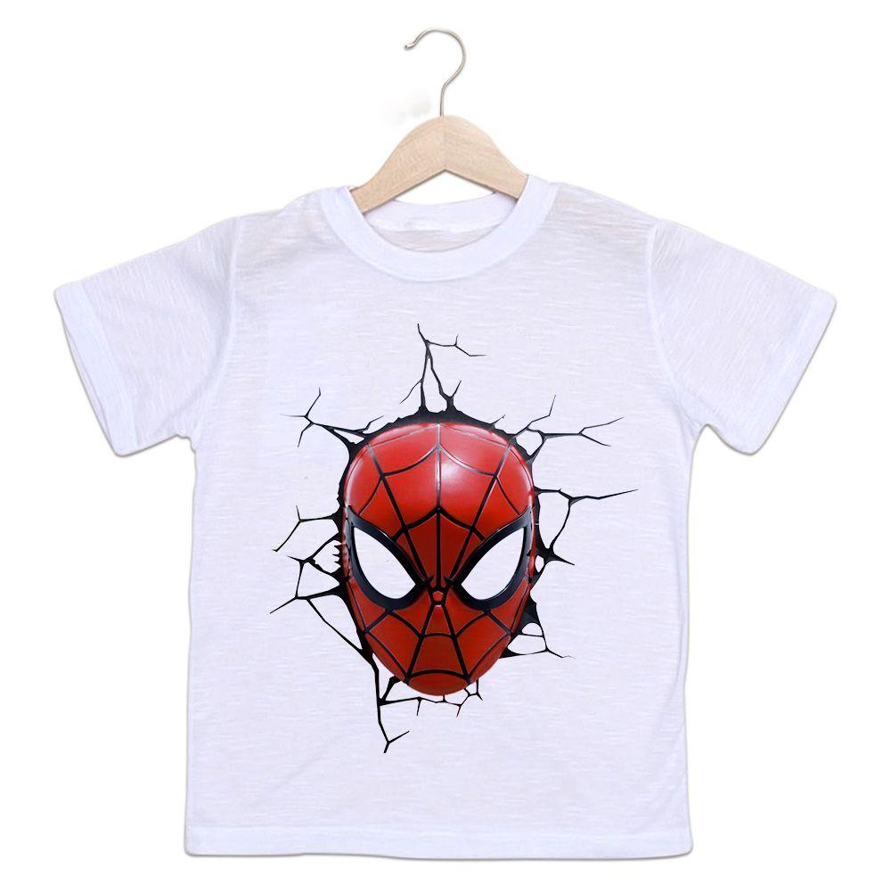 Camiseta Infantil Homem Aranha Super Herói