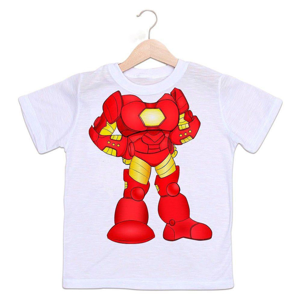 Camiseta Infantil Homem de Ferro