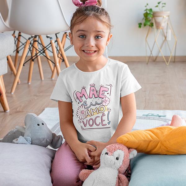 Camiseta Infantil Mãe Eu Amo Você - CA1202