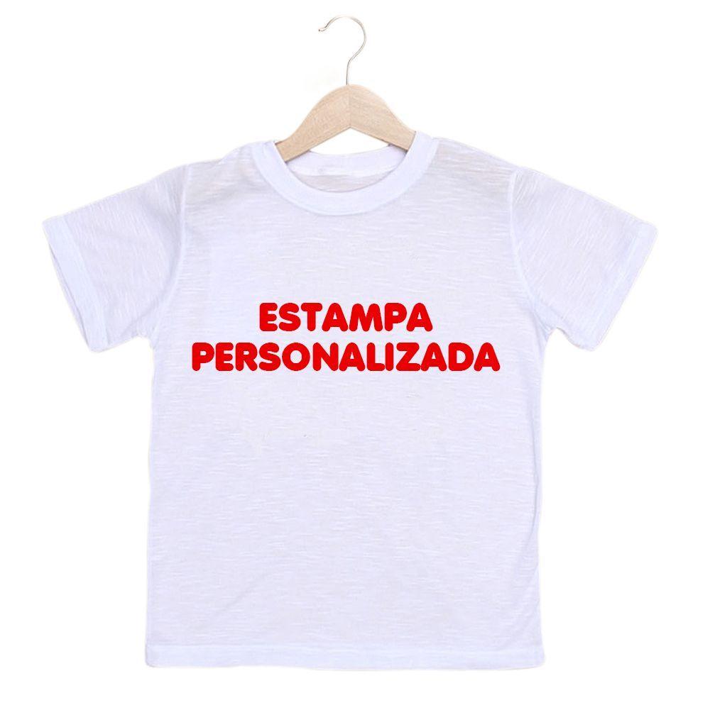 Camiseta Infantil Masculina Personalizada Com A Sua Estampa - Empório  Camiseteria 1184500beb6