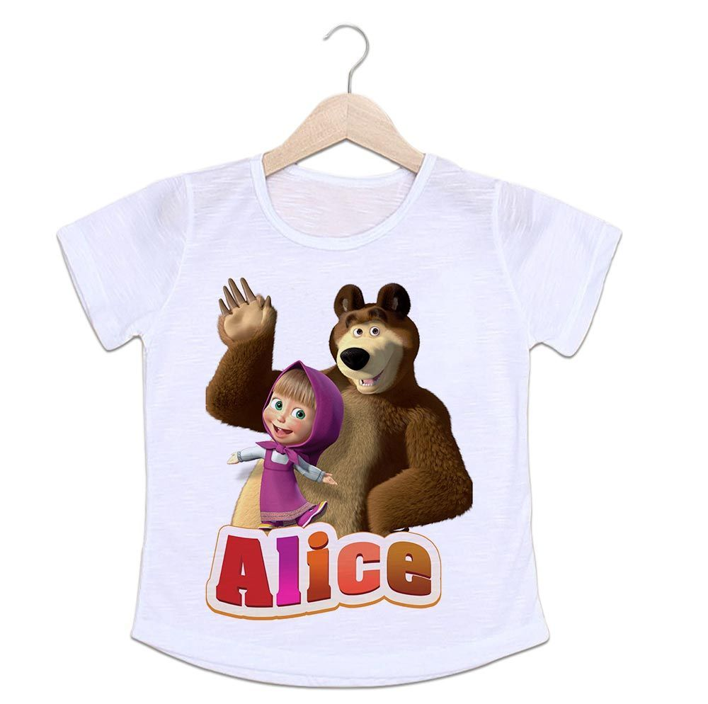 861d56658 Camiseta Infantil Masha e o Urso - Empório Camiseteria