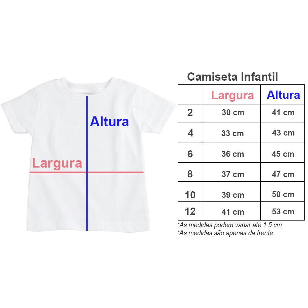 Camiseta Infantil Personalizada Com A Sua Estampa CA0945