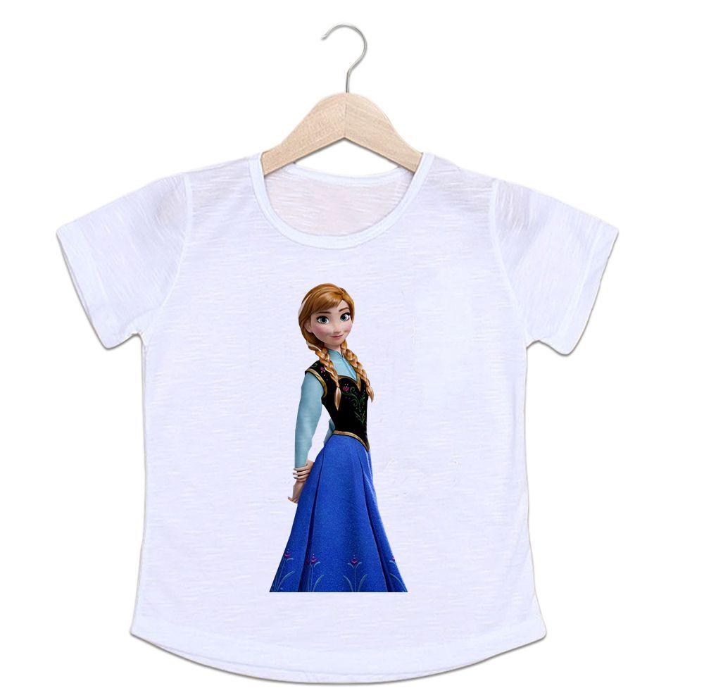 Camiseta Infantil Princesa Anna Frozen