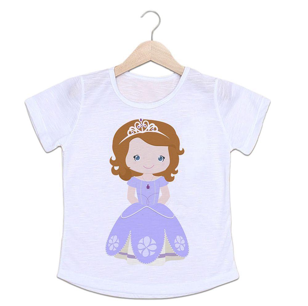 Camiseta Infantil Personalizada Princesa Sofia Desenho Ca0960