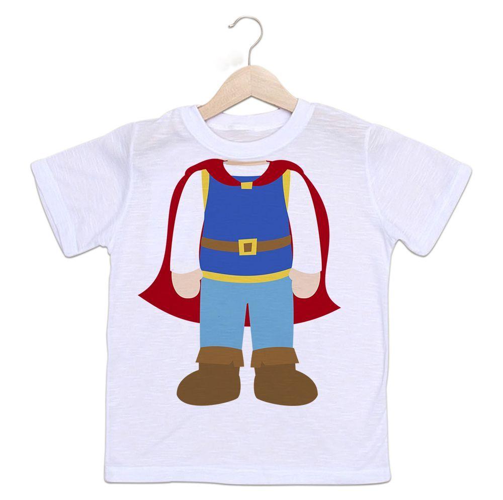 Camiseta Infantil Príncipe Sem Cabeça