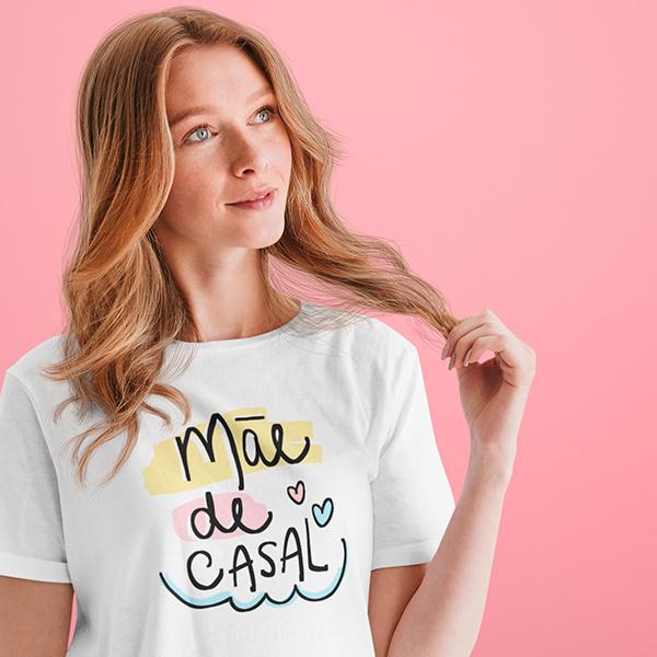 Camiseta Mãe de Casal - CA1191
