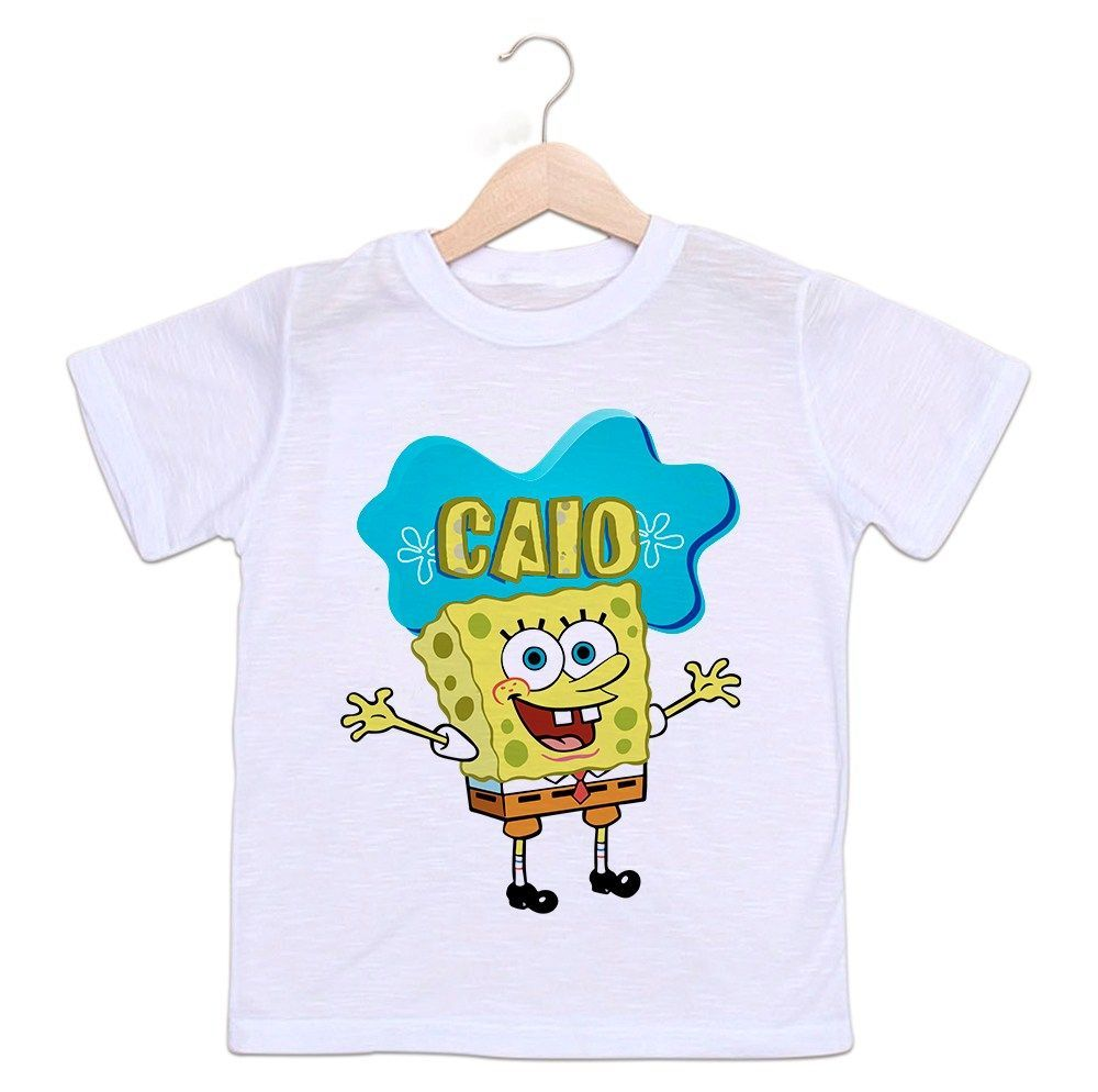 Camiseta Personalizada Infantil Bob Esponja
