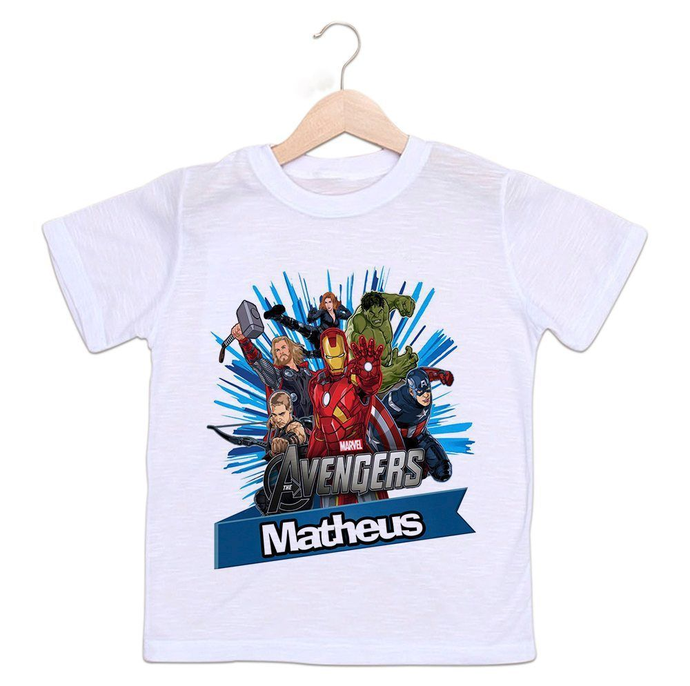 3252808f2 Camiseta Personalizada Infantil Os Vingadores - Empório Camiseteria