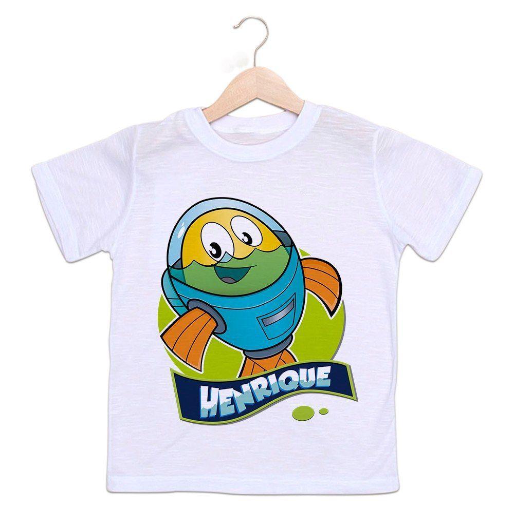 826c27b4c Camiseta Personalizada Infantil Peixonauta - Empório Camiseteria