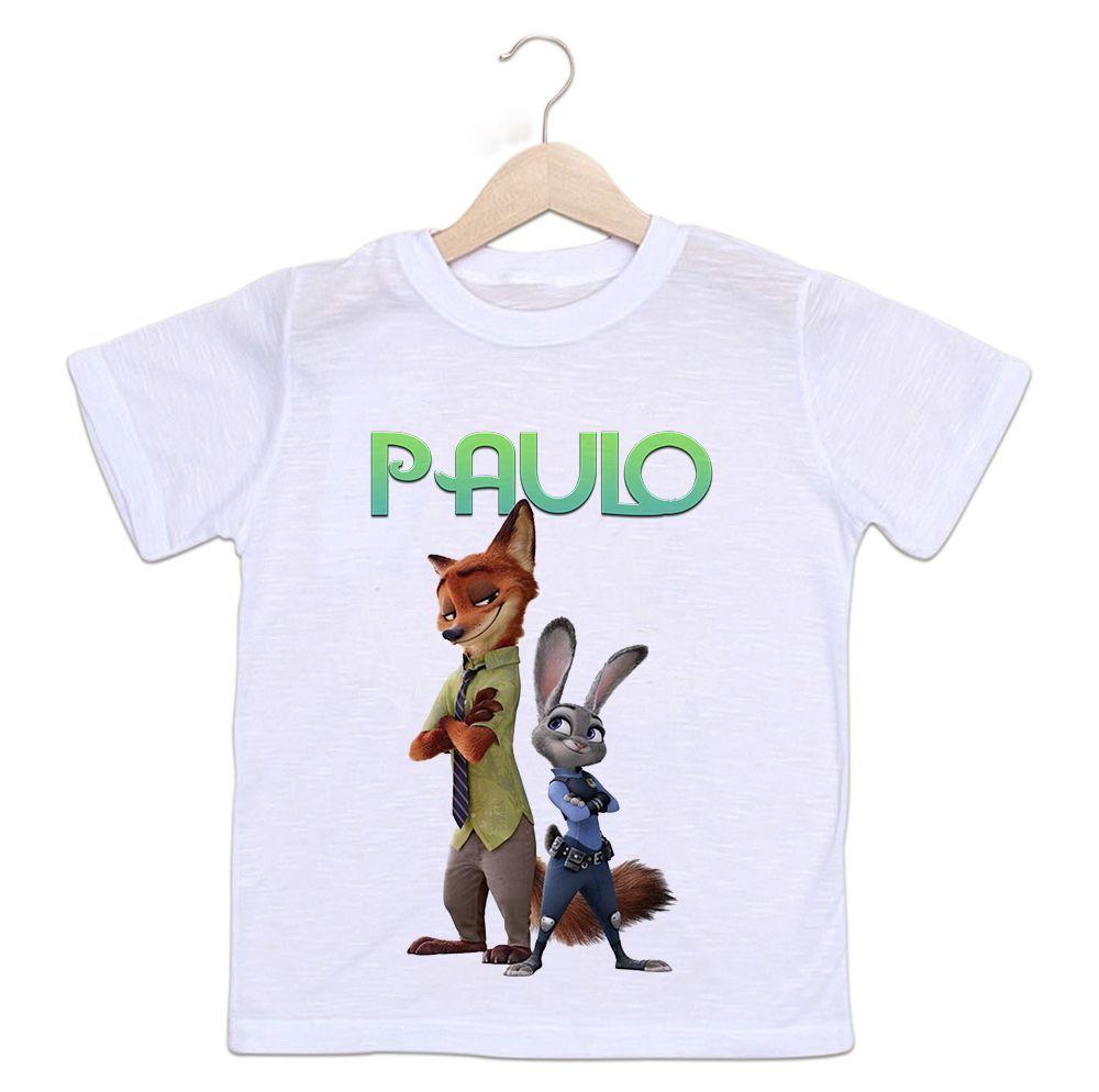 Camiseta Personalizada Infantil Zootopia