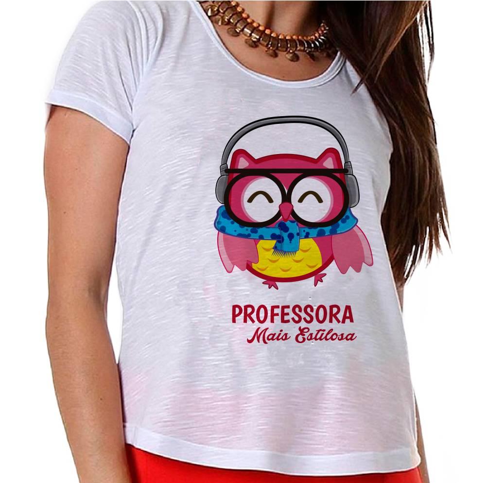 Camiseta Professora Coruja Mais Estilosa!