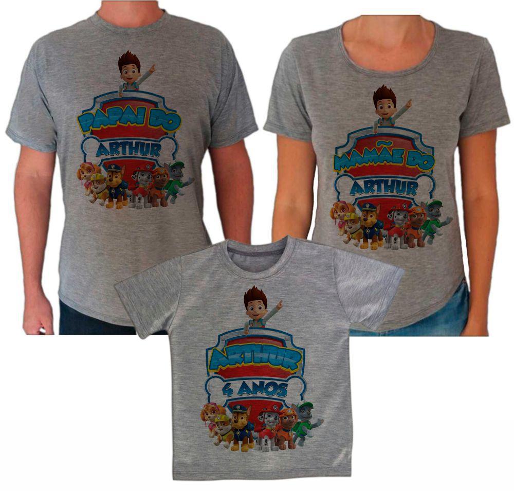 Camisetas Cinza Aniversário Patrulha Canina CA0614