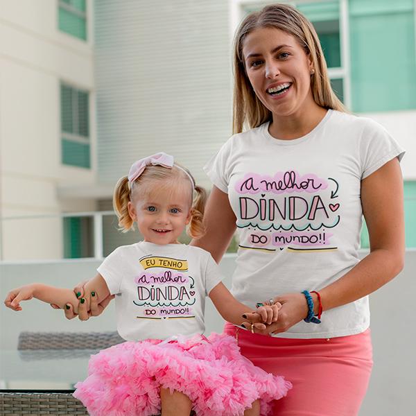 Camisetas Dinda e Afilhada - CA1235