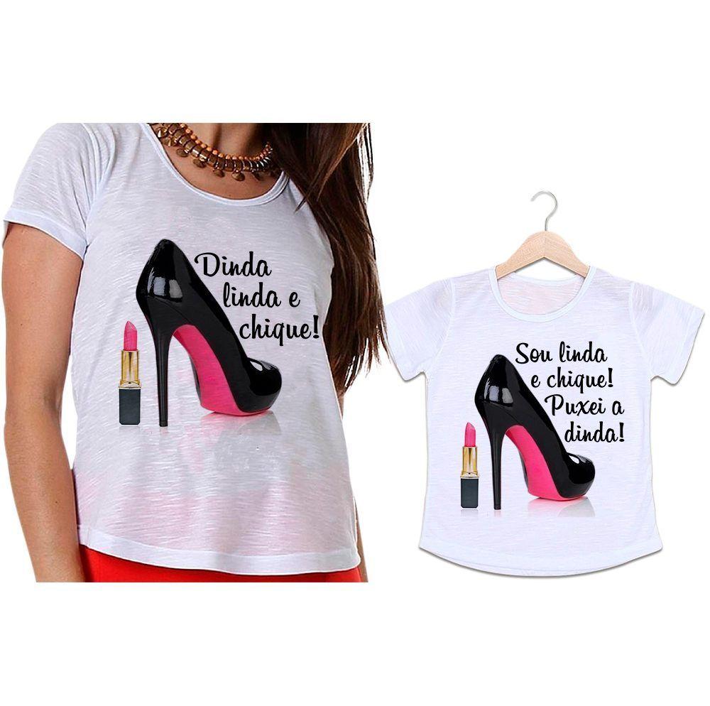 Camisetas Dinda e Afilhada Sapato