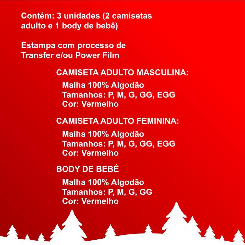 Camisetas e Body Meu Primeiro Natal Vermelho 100% Algodão FN0006