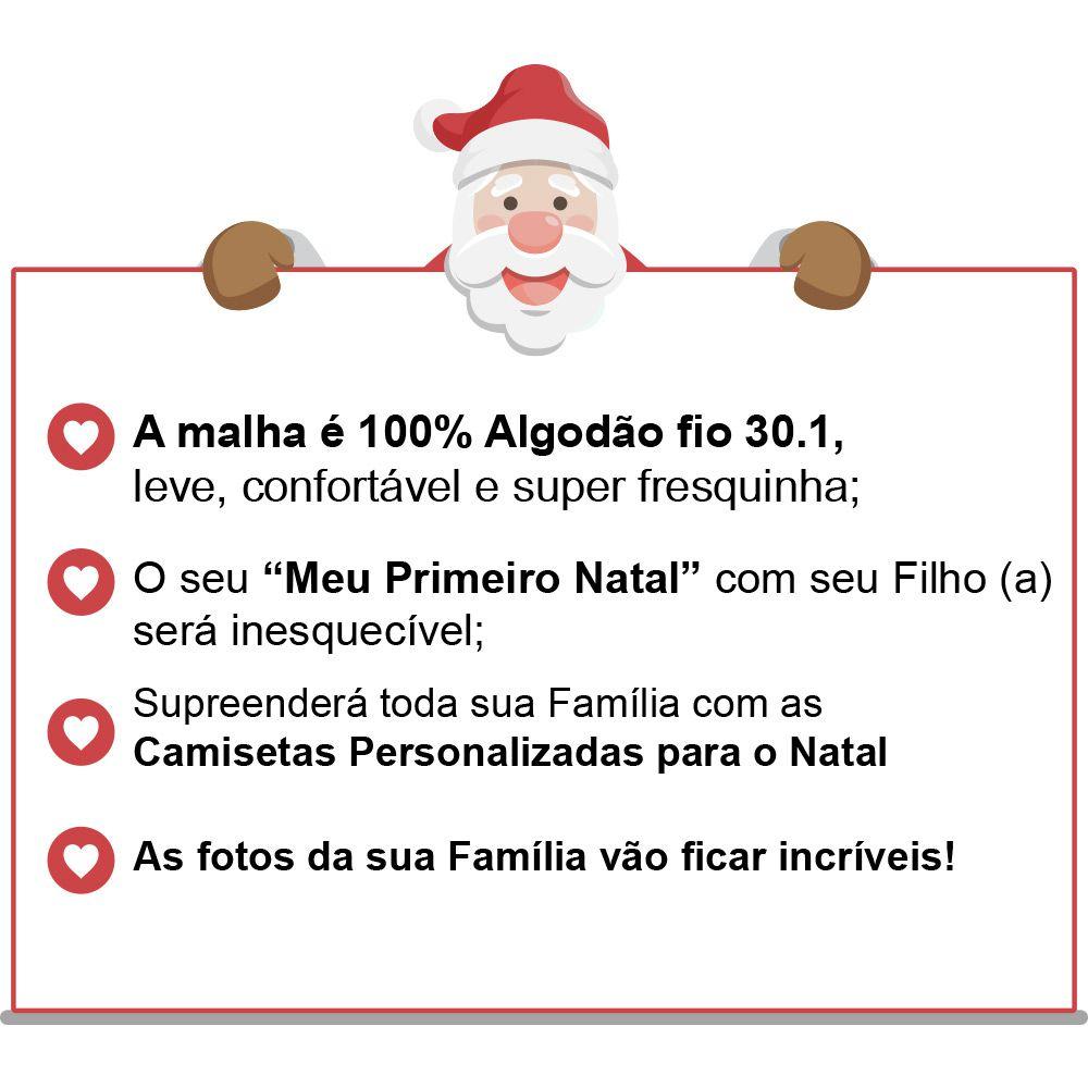 Camisetas e Body Meu Primeiro Natal Vermelho 100% Algodão FN0018