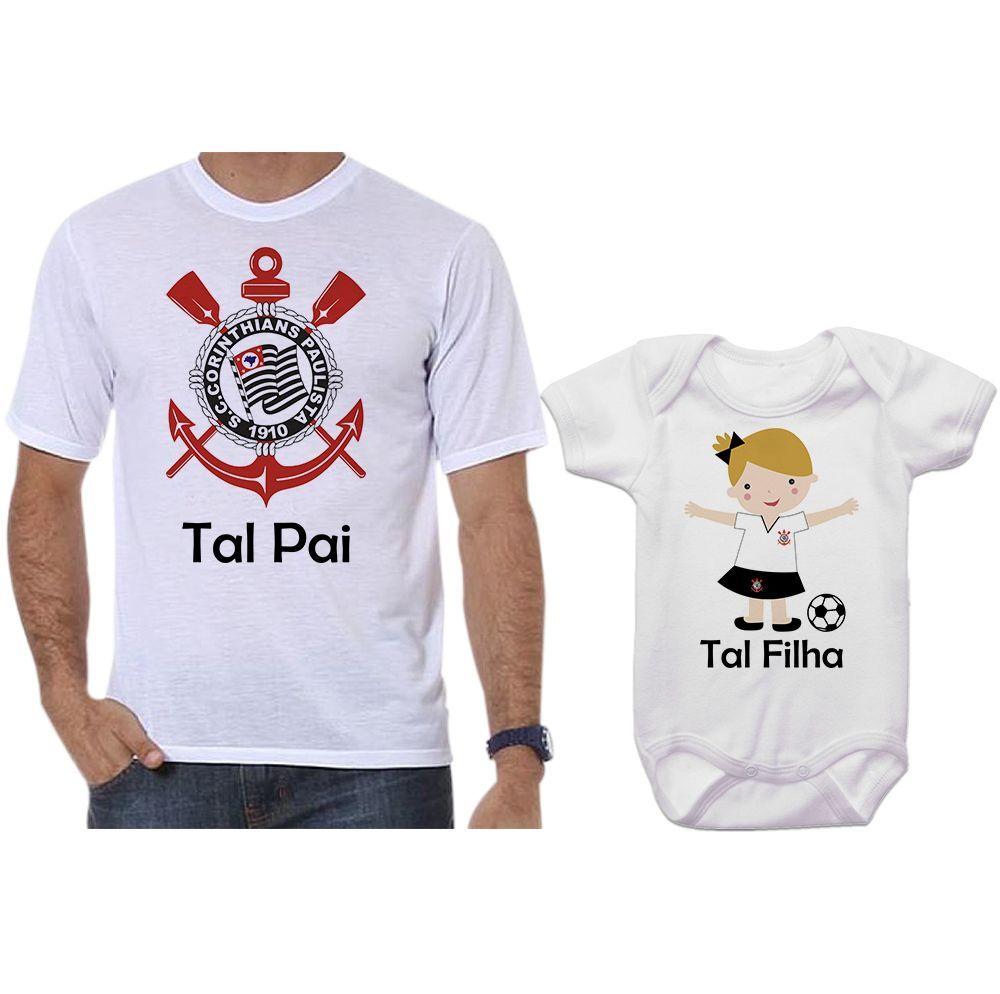 Camisetas e Body Tal Pai Tal Filha Corinthians - Empório Camiseteria 1be21d0a431ba