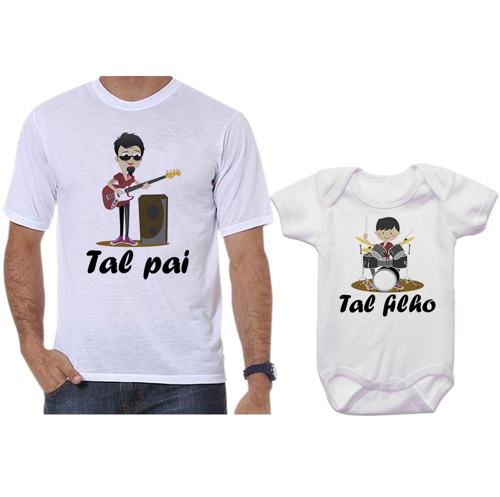 Camisetas e Body Tal Pai Tal Filho Banda de Rock Músicos