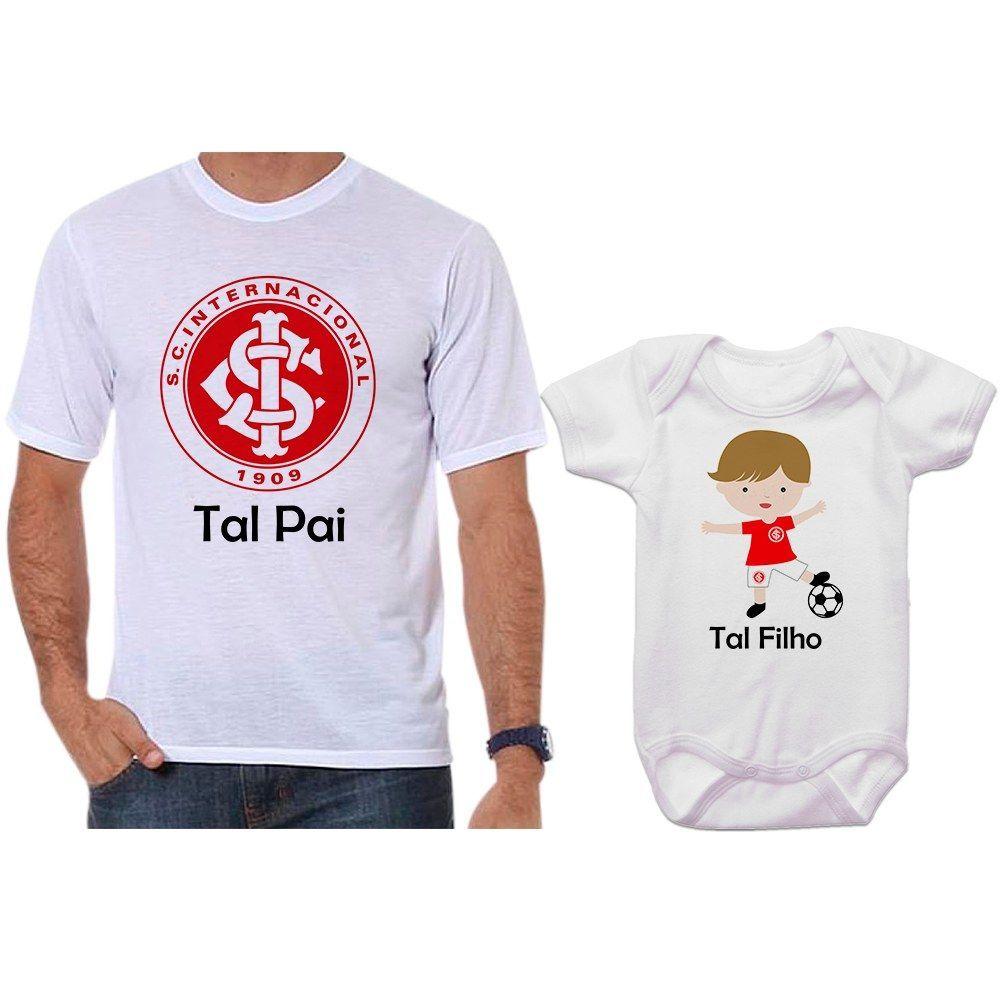 46a7fd5d84 Camisetas e Body Tal Pai Tal Filho Futebol Time Internacional - Empório  Camiseteria