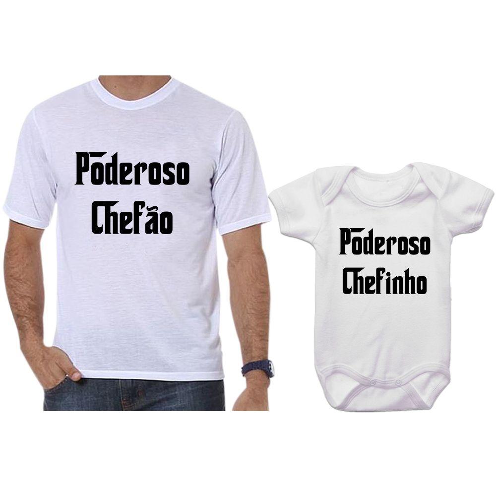 Camisetas e Body Tal Pai Tal Filho Poderoso Chefão e Poderoso Chefinho