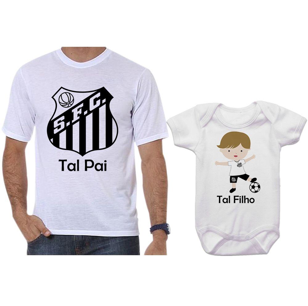 a411851d61 Camisetas e Body Tal Pai Tal Filho Santos - Empório Camiseteria