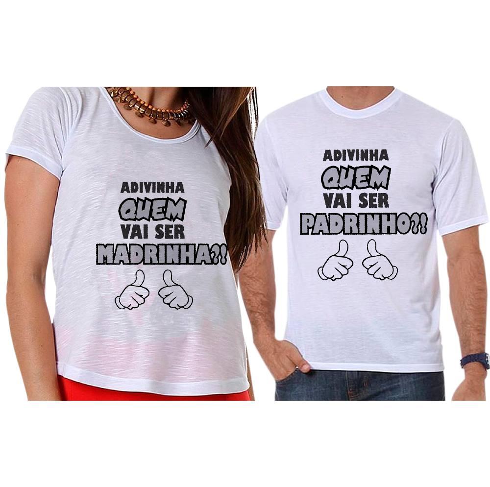 Camisetas Gestante Adivinha Quem Vai Ser Padrinho e Madrinha?!