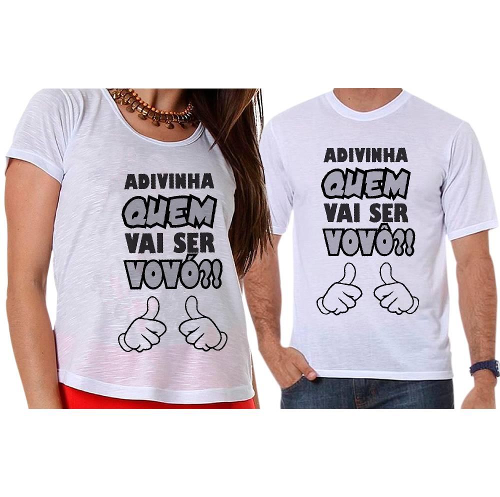 Camisetas Gestante Adivinha Quem Vai Ser Vovô E Vovó