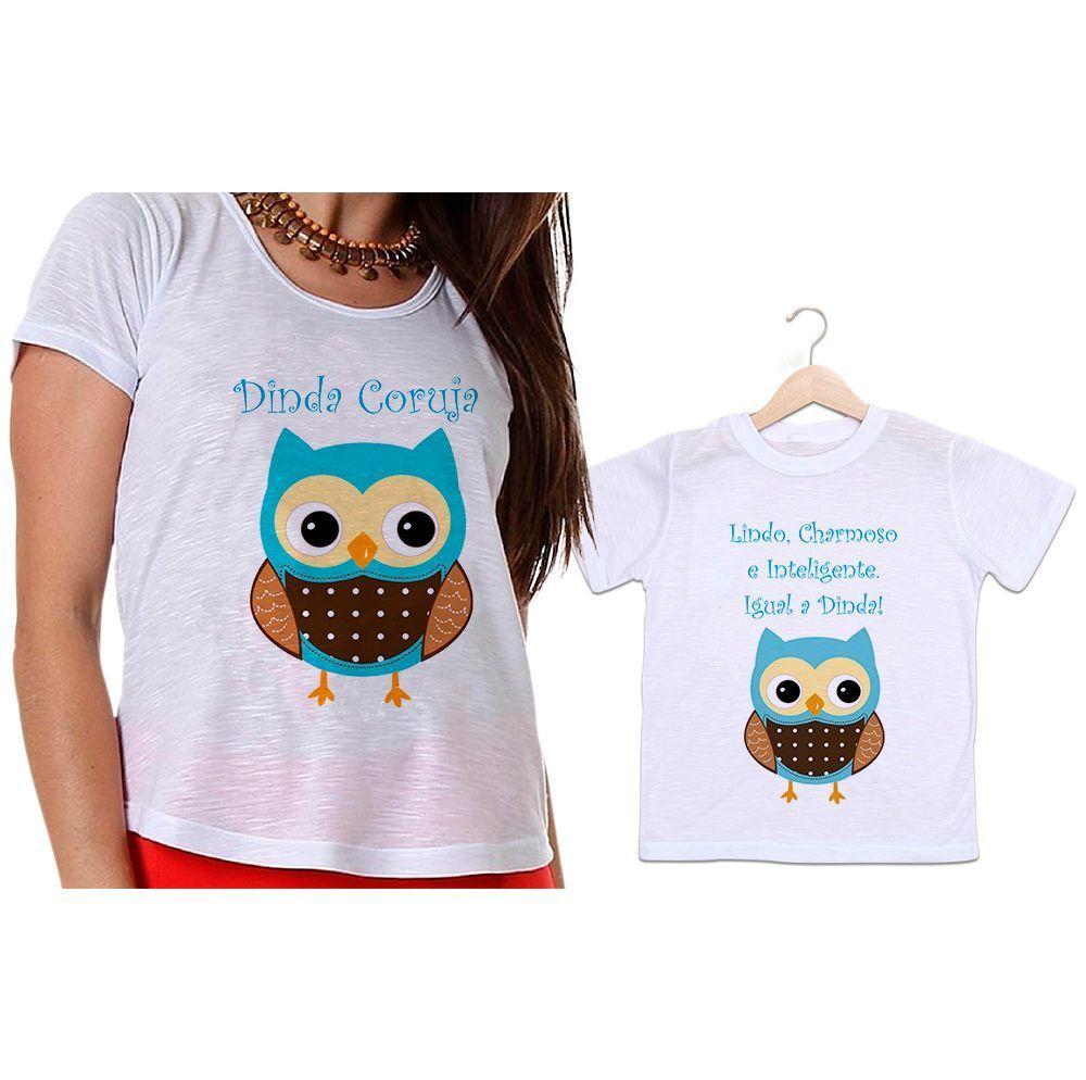 Camisetas Madrinha e Afilhado Lindo, Charmoso e Inteligente Igual a Dinda