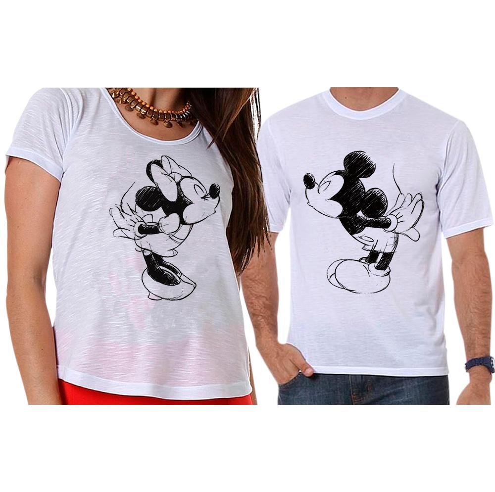 Camisetas Mickey e Minnie