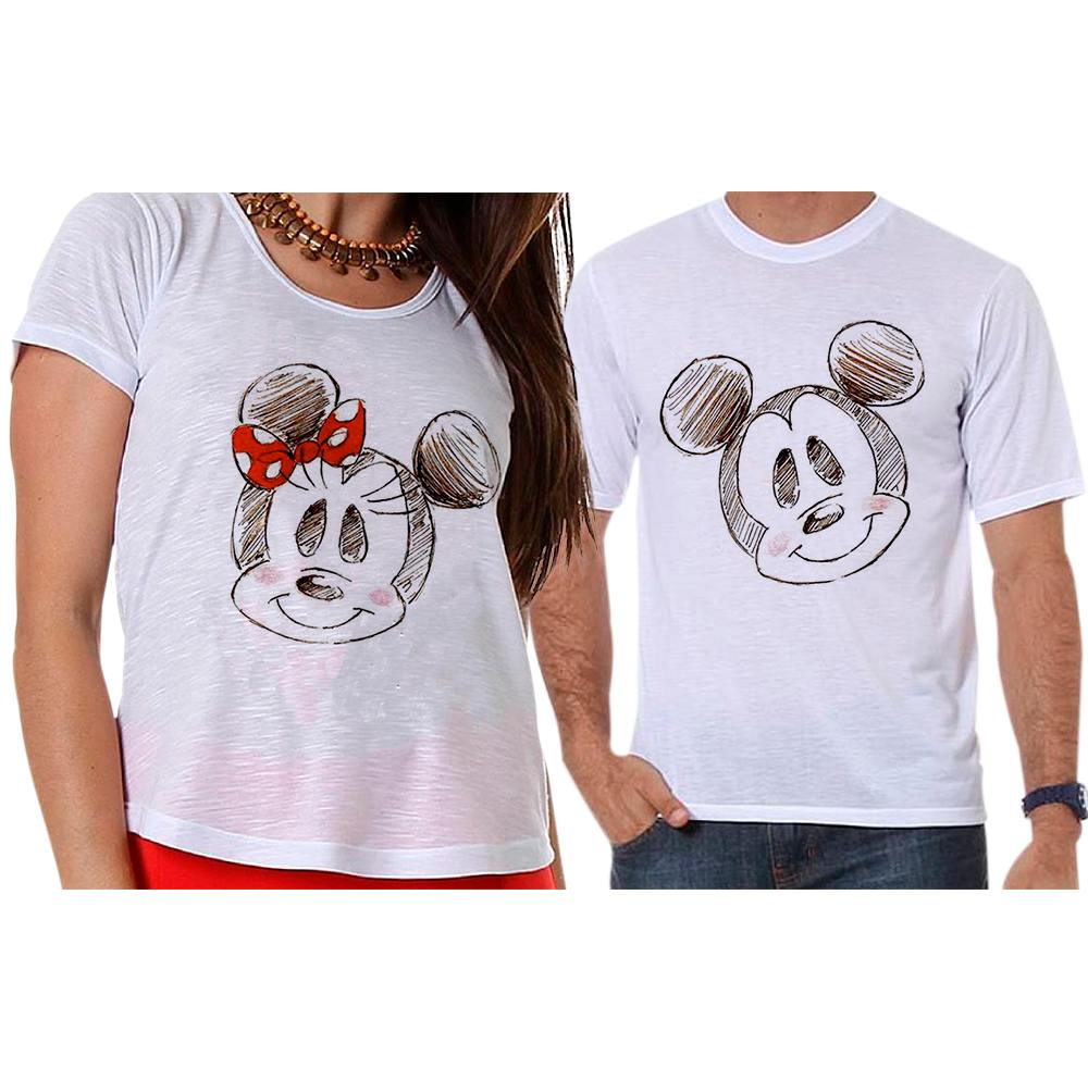 Camisetas Mickey e Minnie Namorados