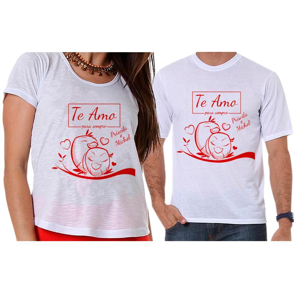 Camisetas Personalizadas Passarinhos Com Nome