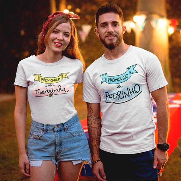 Camisetas Promovidos A Padrinhos - CA1259